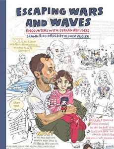 Jacket Art for graphic novel Escaping waves and waves