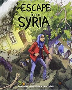 Jacket art for graphic novel Escape from Syria