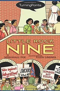Jacket art for graphic novel Little Rock Nine