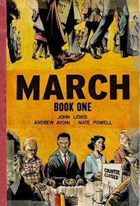 Jacket art for graphic novel March