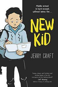 Jacket art for graphic novel New Kid