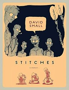 Jacket art for graphic novel Stitches