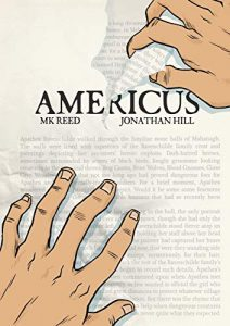 Jacket art for graphic novel Americas