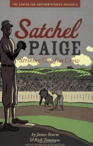 Jacket art for graphic novel Satchel Paige
