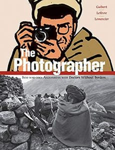 Jacket art for graphic novel The Photographer