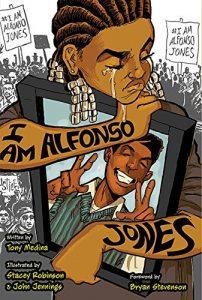 Jacket art for graphic novel I am Alfonso Jones