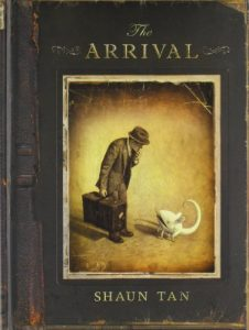 Jacket art for graphic novel The Arrival