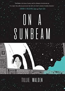 Jacket art for graphic novel On a Sunbeam