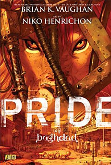 Jacket art for graphic novel Pride of Baghdad