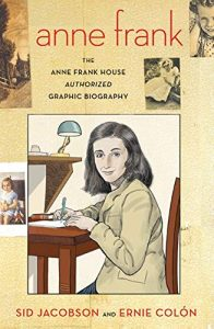 Jacket art for graphic novel Anne Frank