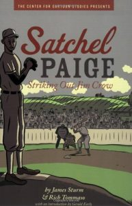 Jacket art for graphic novel Satchel Paige