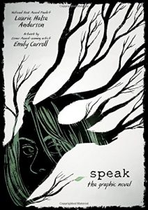 Jacket art for graphic novel Speak